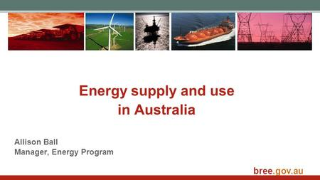 Energy supply and use in Australia