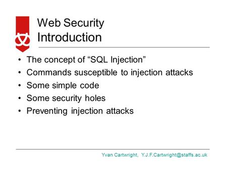 "Introduction The concept of ""SQL Injection"""