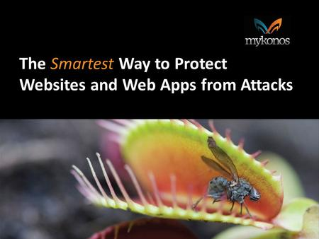 The Way to Protect The Smartest Way to Protect Websites and Web Apps from Attacks.