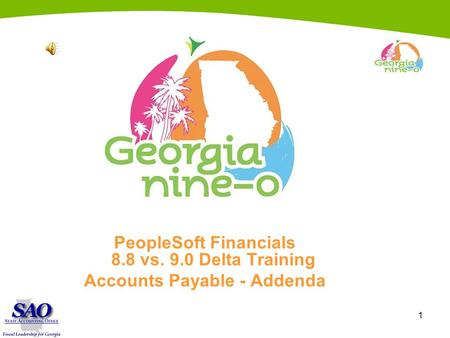1 PeopleSoft Financials 8.8 vs. 9.0 Delta Training Accounts Payable - Addenda.