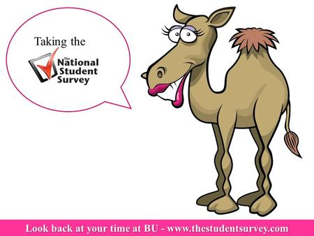 Look back at your time at BU - www.thestudentsurvey.com Taking the.