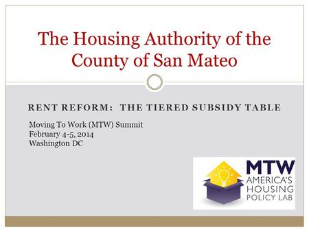The Housing Authority of the County of San Mateo
