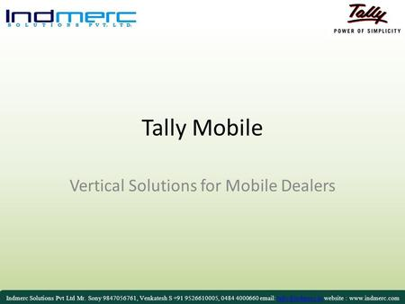 Vertical Solutions for Mobile Dealers