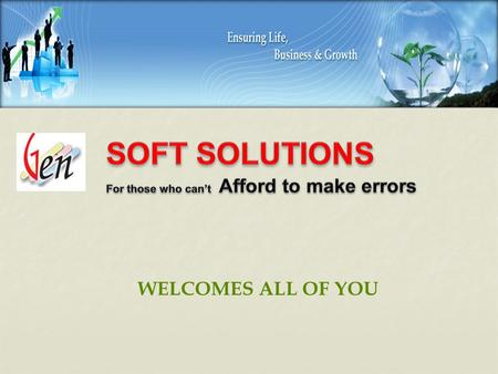 WELCOMES ALL OF YOU INTRODUCING.... A Complete Solution For Your Billing Process.