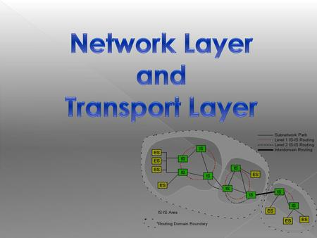 The Network layer and Transport layer are responsible for moving messages from end to end in a network. The transport layer performs three functions: