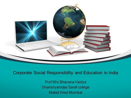 Corporate Social Responsibility and Education in India