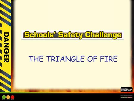 THE TRIANGLE OF FIRE. Learning Objective: –Children will be made aware of the three elements that make up the Triangle of Fire. –Children will be made.