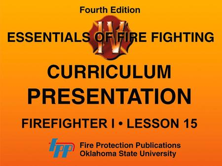 FIREFIGHTER I LESSON 15. SPRINKLER SYSTEM DESIGN AND OPERATION Series of sprinklers arranged to automatically distribute enough water to extinguish or.