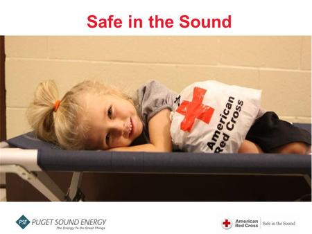 "Safe in the Sound. ""Safe In The Sound"" is a three year community preparedness campaign to help individuals and communities throughout the Puget Sound."