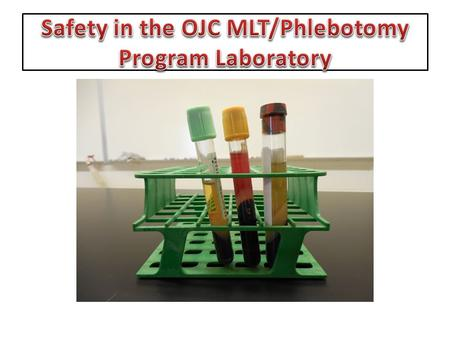 This slide presentation is to show the location of safety and infection control equipment in the MLT classroom/laboratory.