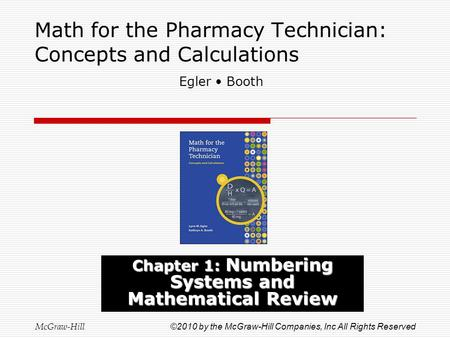 Math for the Pharmacy Technician: Concepts and Calculations