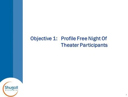 Objective 1:Profile Free Night Of Theater Participants 9.