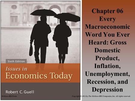 McGraw-Hill/Irwin Copyright © 2012 by The McGraw-Hill Companies, Inc. All rights reserved. Chapter 06 Every Macroeconomic Word You Ever Heard: Gross Domestic.