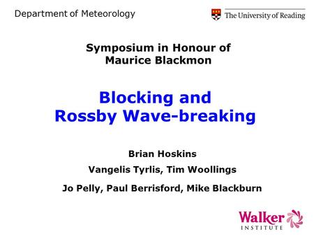 Blocking and Rossby Wave-breaking