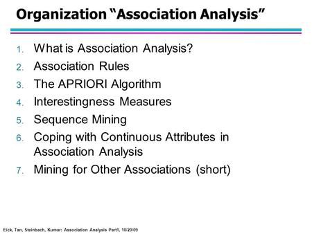 "Organization ""Association Analysis"""