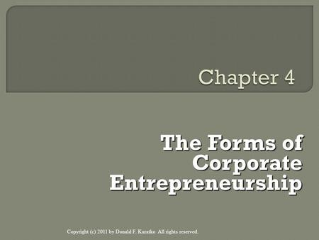 The Forms of Corporate Entrepreneurship