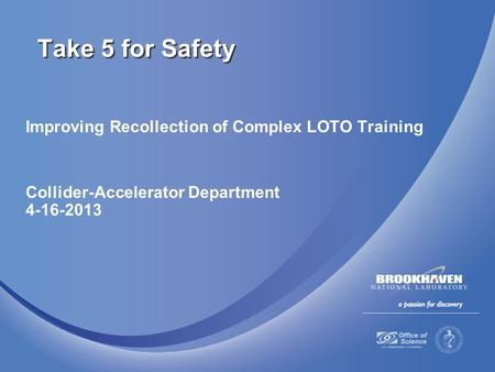Take 5 for Safety Improving Recollection of Complex LOTO Training
