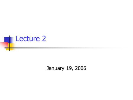 Lecture 2 January 19, 2006.  Sudhir K. Jain, IIT Kanpur E-Course on Seismic Design of Tanks/ January 2006 Lecture 2 / Slide 2 In this lecture Seismic.
