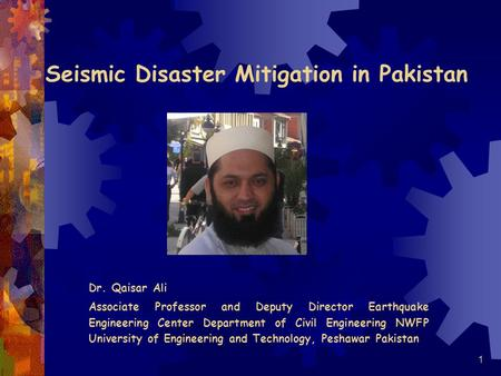 Seismic Disaster Mitigation in Pakistan