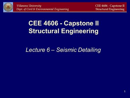 CEE Capstone II Structural Engineering