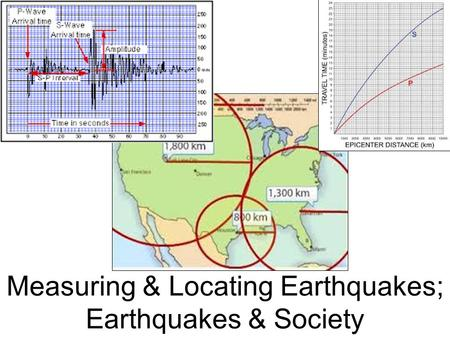 Measuring & Locating Earthquakes; Earthquakes & Society