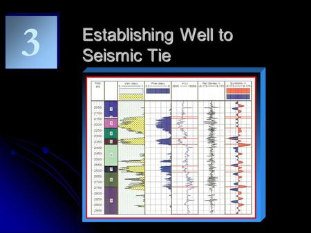 Establishing Well to Seismic Tie 3 3. Objectives Establish Well-Seismic Tie - Determine key marker that need to be interpreted - Understand seismic response.