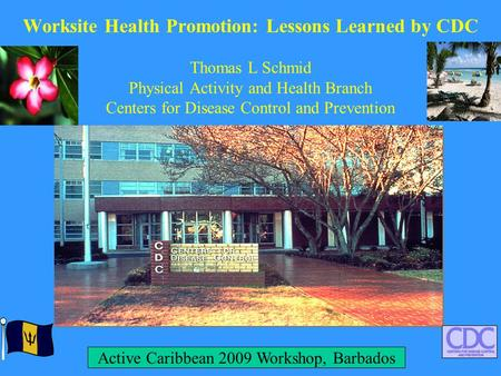 Worksite Health Promotion: Lessons Learned by CDC Thomas L Schmid Physical <strong>Activity</strong> and Health Branch Centers for Disease Control and Prevention <strong>Active</strong>.