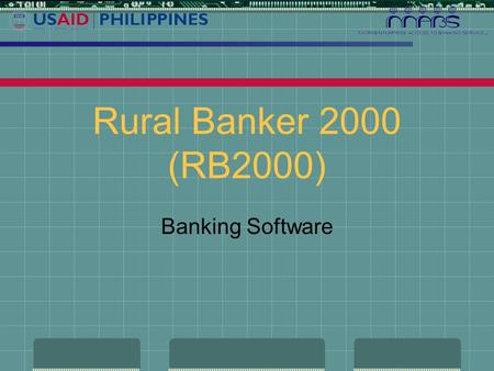 Rural Banker 2000 (RB2000) Banking Software Magandang Japon!