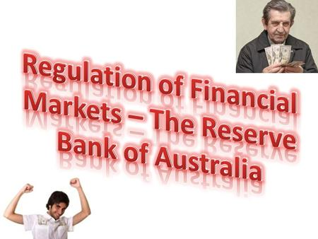 Facts Australia's central bank The role of controlling the countries money and banking system The RBA was created in 1959 under the Reserve Bank Act 1959.