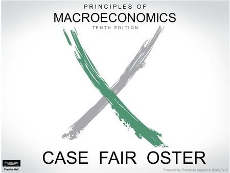 1 of 20 © 2012 Pearson Education, Inc. Publishing as Prentice Hall PART IV Further Macroeconomics Issues Prepared by: Fernando Quijano & Shelly Tefft CASE.