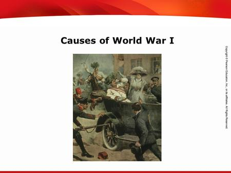 TEKS 8C: Calculate percent composition and empirical and molecular formulas. Causes of World War I.