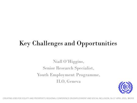 Key Challenges and Opportunities