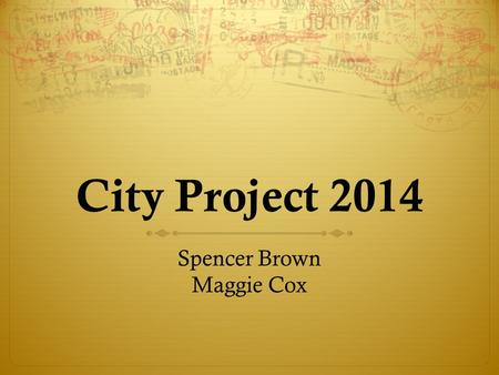 City Project 2014 Spencer Brown Maggie Cox. Overview  New York City  Greensboro/Durham  London  Serbia.