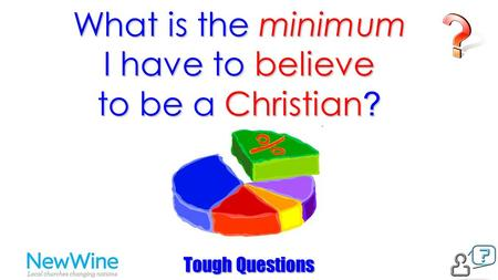 What is the minimum I have to believe to be a Christian ? Tough Questions.