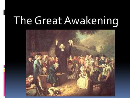 the great awakenting