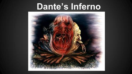 Dante's Inferno. The Dark Wood of Error The encounter with the three beasts.