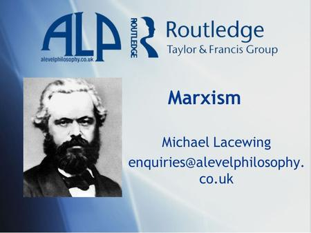 Marxism Michael Lacewing co.uk.