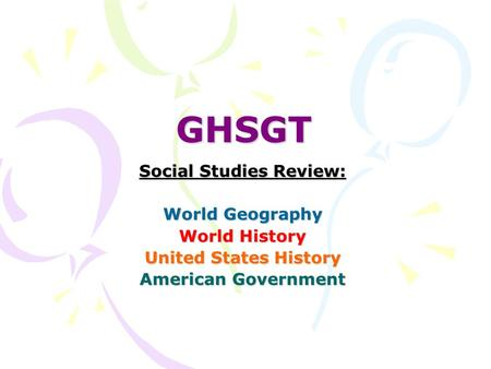 Georgia High School Graduation Tests (GHSGT)