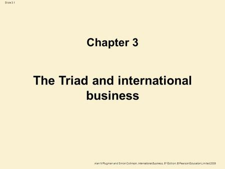 The Triad and international business