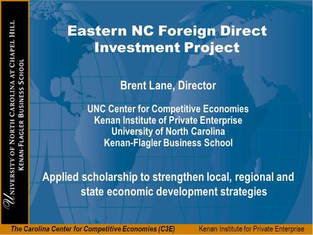 Eastern NC Foreign Direct Investment Project