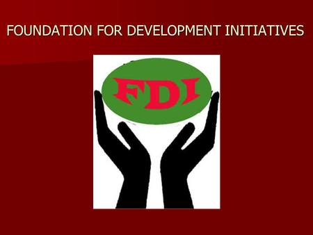 FOUNDATION FOR DEVELOPMENT INITIATIVES. RETAIL SECTOR CO-OPERATIVE MOVEMENT IN INDIA IN INDIA FDI.