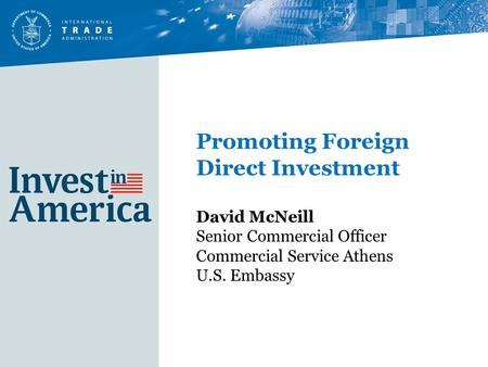 Promoting Foreign Direct Investment