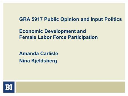 Public Opinion and Political Participation