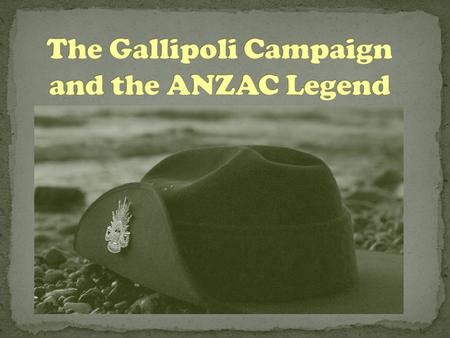 The Gallipoli campaign and the Anzac legend which emerged from it have had a significant impact on ideas about Australia's national identity.  Although.