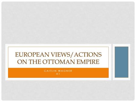 CAITLIN WAGNER A1 EUROPEAN VIEWS/ACTIONS ON THE OTTOMAN EMPIRE.