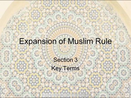 Expansion of Muslim Rule
