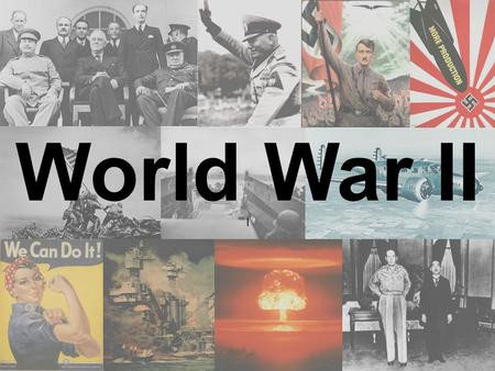 l World War II Key Terms: 1.Appeasement 2.Neutrality Acts 3.Cash and Carry 4.Lend- Lease Act 5.Atlantic Charter.