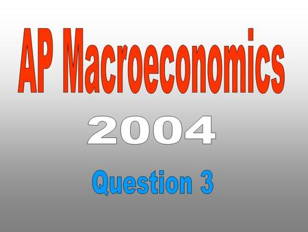 AP Macroeconomics 2004 Question 3.