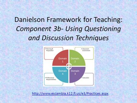 Danielson Framework for Teaching: Component 3b- Using Questioning and Discussion Techniques