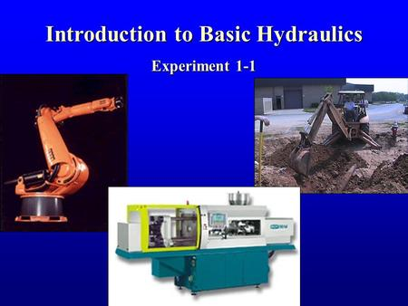 Introduction to Basic Hydraulics